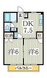 ガーデンヒルズ湖北台[2階]の間取り