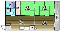 谷内マンション[3階]の間取り
