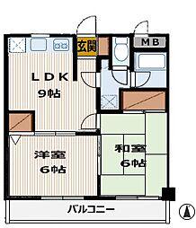 コンフォートデイジー 303号室[3階号室]の間取り
