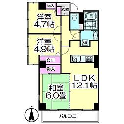 さくらマンション[303号室]の間取り
