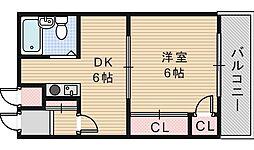 瀧川ハイツ[3階]の間取り