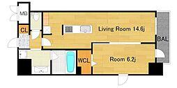 仮)D−Room 天神橋1丁目 新築[11階]の間取り