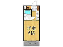 兵庫県西宮市神呪町の賃貸マンションの間取り