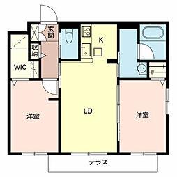 シャーメゾンクライム[1階]の間取り