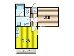 インフィニティ浦和[4階]の間取り