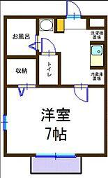 Kハウス[102号室]の間取り