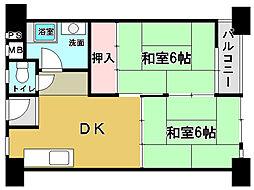 高石駅前団地[2DK号室]の間取り