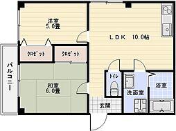 キャッスルマンション2[2階]の間取り
