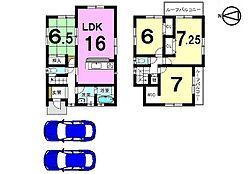 土地面積52.05坪。全室6帖以上のゆとりある間取りです。お気軽にお問い合わせください。