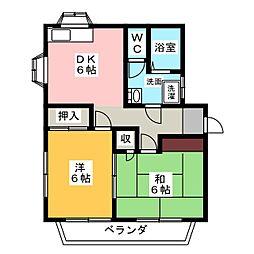 菊井コーポ[2階]の間取り