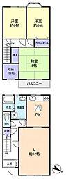 メゾネット山田[1階]の間取り
