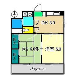 メゾンミヤジ[2階]の間取り