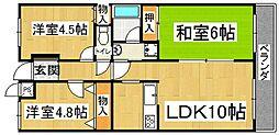 セレコート住道[1階]の間取り