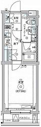 東急大井町線 九品仏駅 徒歩4分の賃貸マンション 4階1Kの間取り