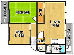 商工会マンション 2棟[2階]の間取り