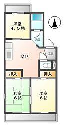 愛知県名古屋市緑区浦里3丁目の賃貸マンションの間取り
