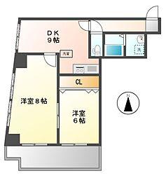 モワビル(MOWAビル[4階]の間取り