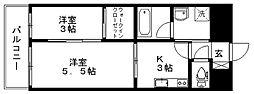 ルネッサンス21久留米六ツ門[G1003号室]の間取り