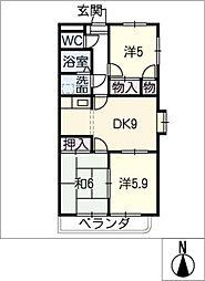 PRIMROSE[4階]の間取り