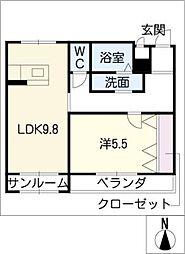 クリスタルパレス[1階]の間取り