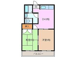 ガーデンハイツナガシマ[2階]の間取り