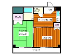 東京都板橋区蓮根1丁目の賃貸マンションの間取り