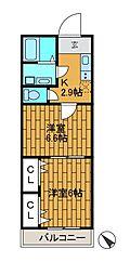 (仮)田部誠様邸新築アパート[2階]の間取り