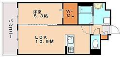 福岡県福岡市南区那の川1丁目の賃貸マンションの間取り