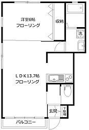 ベレッツァ[1階]の間取り