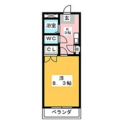 Phlox五反田[2階]の間取り