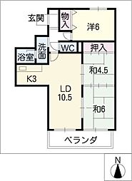 メゾンエトワール[11階]の間取り