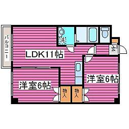 北海道札幌市東区北四十五条東18丁目の賃貸マンションの間取り
