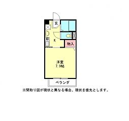 愛知県岩倉市大市場町郷前の賃貸アパートの間取り