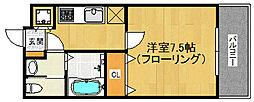 リード桜坂[603号室]の間取り