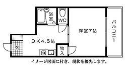 エオス舟入[302号室]の間取り