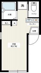 フォレスト井土ヶ谷[1階]の間取り