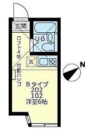 神奈川県川崎市川崎区田島町の賃貸アパートの間取り