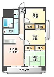 KSIIマンション[4階]の間取り