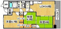 サニーヒル忍ヶ丘[4階]の間取り