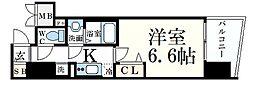 JR東海道・山陽本線 元町駅 徒歩9分の賃貸マンション 14階1Kの間取り