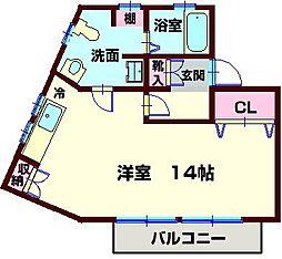 ソレイユ片倉[301号室]の間取り