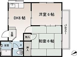 第3コーポヤマジュウ[2階]の間取り