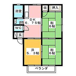サンフェリカ45[1階]の間取り