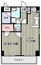 Elfer天王寺/[4階]の間取り