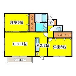 北海道札幌市東区北十八条東13丁目の賃貸マンションの間取り