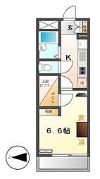 レオパレスハピネス[4階]の間取り