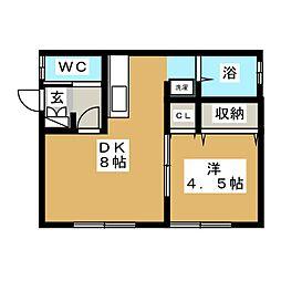 メゾンオリーブ[2階]の間取り