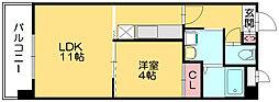 福岡県糟屋郡篠栗町大字田中の賃貸マンションの間取り