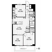 高層階・角部屋、日当たり・通風・眺望も良好な3LDK。収納も豊富です