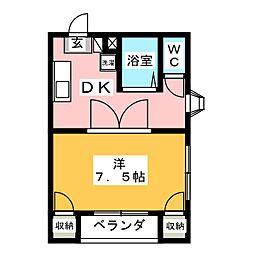 ディライトマンション[3階]の間取り